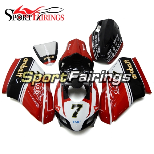 Firberglass Fairing Kit Fit For Dacati 999/749 2005 -  2006 - Red Black