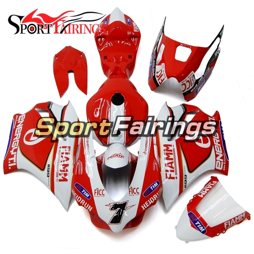 Firberglass Fairing Kit Fit For Dacati 899/1199 2012 - 2013 -  Red White