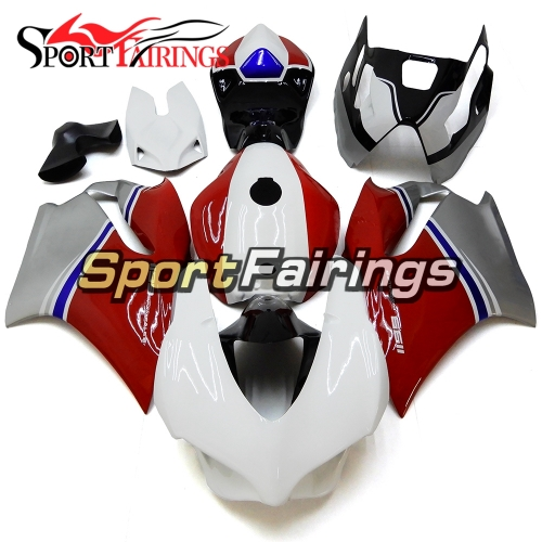 Firberglass Fairing Kit Fit For Dacati 899/1199 2012 - 2013 - White Red Grey