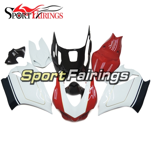 Firberglass Fairing Kit Fit For Dacati 899/1199 2012 - 2013 -  White Red Black