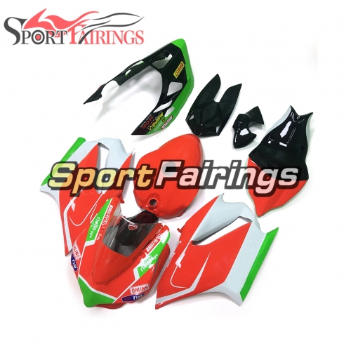 Firberglass Fairing Kit Fit For Dacati 899/1199 2012 - 2013 - Red Green