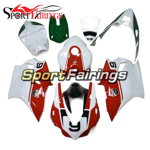 New Firberglass Racing Fairing Kit Fit For Dacati 959 2015 - 2017 - White Green Red