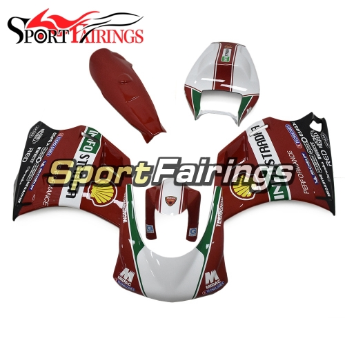 Firberglass Racing Fairing Kit Fit For Dacati 996/748/916/998 Monoposto 1996 - 2002 -  Red White Green Black Yellow