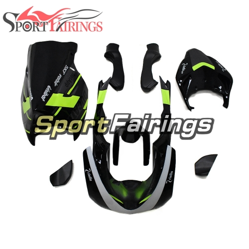 Firberglass Racing Fairings Fit For Dacati 1098/848/1198 2007 - 2012 - Glossy Black Fluorescent Yello