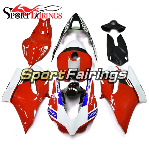 Firberglass Racing Fairing Kit Fit For Dacati 899/1199 2012 - 2013 - Gloss Red White Black
