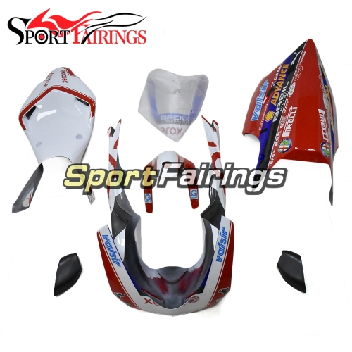 Firberglass Racing Fairings Fit For Dacati 1098/848/1198 2007 - 2012 - White Red Black