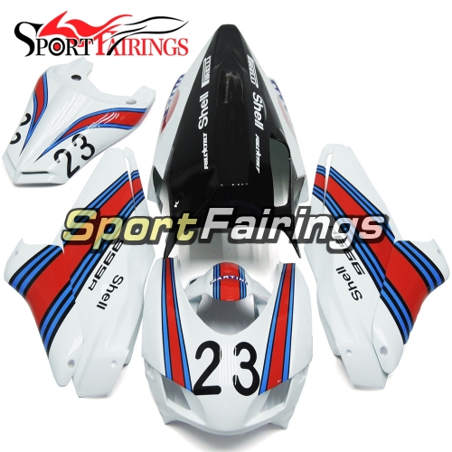Firberglass Racing Fairing Kit Fit For Dacati 999 749 2005-2011 - Glossy White Red Blue