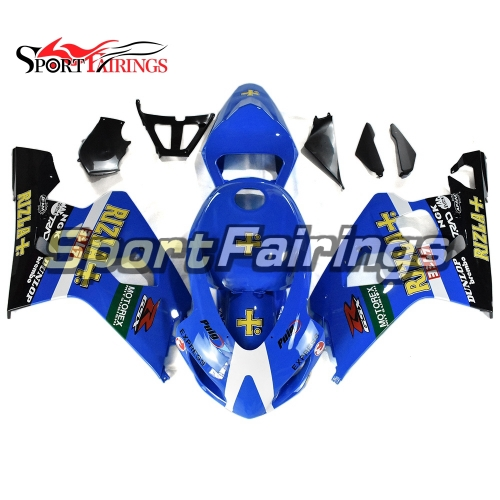 Racing Fairing Kit Fit For Suzuki GSXR600 750 2004 - 2005 - Blue Yellow